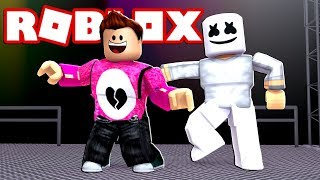WE DANCE WITH MARSHMELLO Cerso Roblox simulator in Spanish
