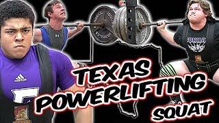 🔥🔥 Texas Strong ! | High School Powerlifting | Squat | S & S Ram Invitational | THSPA Region 6