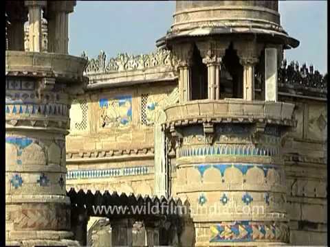 Man Singh Palace - Beautiful structure in Gwalior fort, Madhya Pradesh