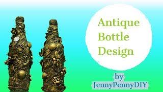 Vintage Bottle decorating ideas|Bottle decoration|bottle art|Bottle craft|diy bottle decor|shabby