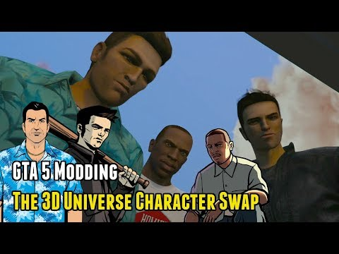 The 3D Universe Character Swap #1 [lunchxbles] (GTA 5 Mods)