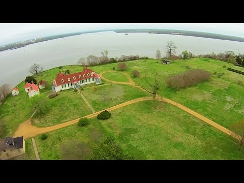Aerial Views of Petersburg National Battlefield/City Point Unit - Hopewell, Va