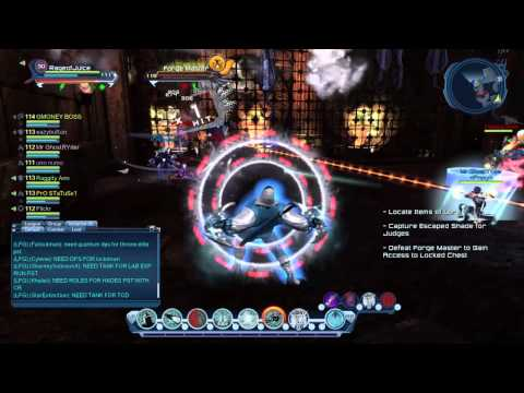 DC Universe online: DCUO: HOH: Hall of Hades raid 1st & 2nd boss: 111 gadget troll: PS4 gameplay