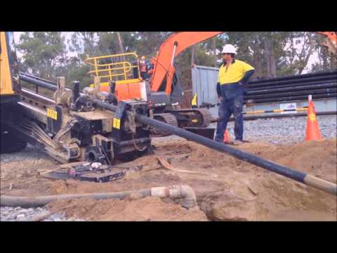 Australia Wide Direct Drilling operating at the Calliope River crossing