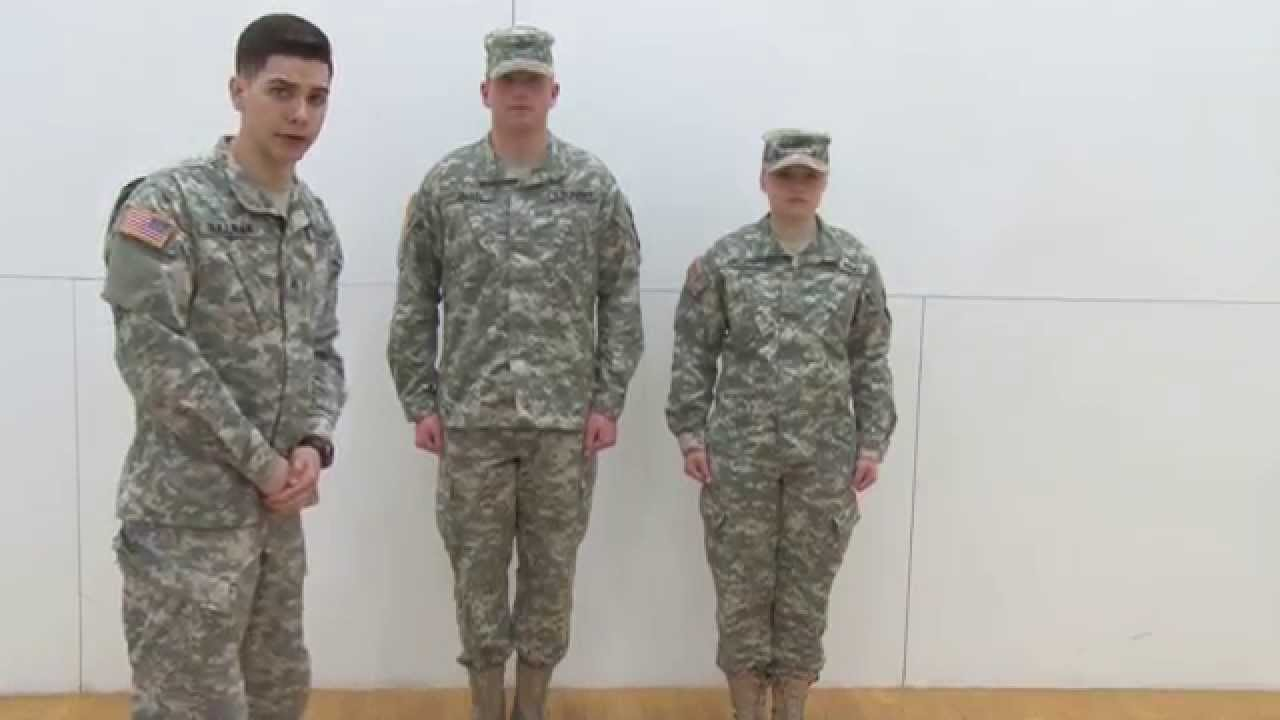 How to rotc wear uniform acu images