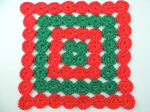 Cojines Navidad Manualidades.Crochet Cojin De Navidad En Circulos Continuos