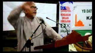Ceramah Tuan Guru Haji Abdul Hadi Awang di Kg Pasir Putih Tawau part 1