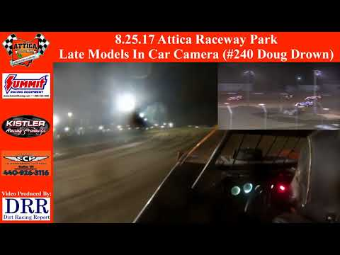 8.25.17 Attica Raceway Park Late Models In Car Camera