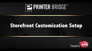 Storefront Customization Setup