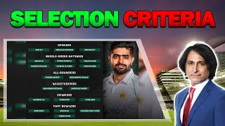 Selection Criteria | PAK Squad Against South Africa