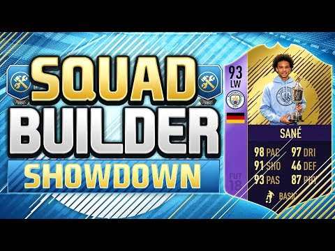 FIFA 18 SQUAD BUILDER SHOWDOWN!!! YOUNG PLAYER OF THE YEAR SANE!!! yPOTY Sane Squad Duel