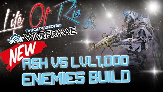 NEW ASH Vs 1,000+ENEMIES BUILD|NIGHTMARE MOT MODE|WARFRAME
