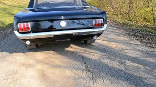 1966 MUSTANG CONVERTIBLE 289 4SPD PS DISC SOLID BEAUTIFUL FACTORY RAVEN BLACK TRIPLE BLACK