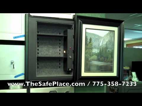 Wall Safes For Homes secure logic invisivault picture frame wall safe - youtube