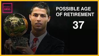 HOW SOON IS  CRISTIANO RONALDO RETIREMENT?