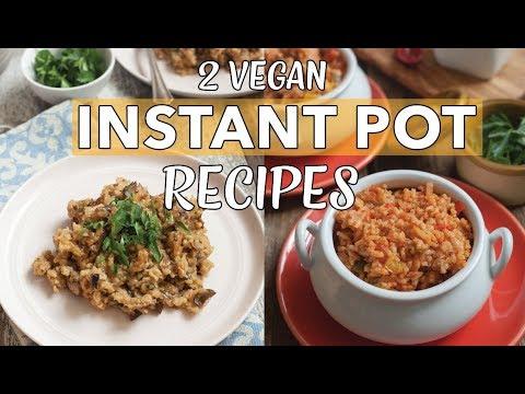 2 VEGAN INSTANT POT RICE RECIPES | Vegan Risotto | Spanish Rice | Instant Pot Risotto | Edgy Veg