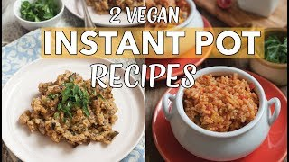 2 VEGAN INSTANT POT RICE RECIPES | Vegan Risotto | Spanish Rice | Instant Pot Risotto | Edgy Veg thumbnail