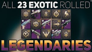 ALL Exotic Rolled Legendary Weapons (23 Confirmed) | Destiny 2 Forsaken