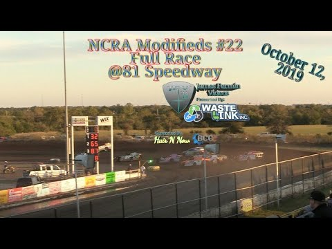 NCRA Modifieds #22, Full Race, 81 Speedway, 10/12/19