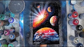 Big Bang  - SPRAY PAINT ART by Skech