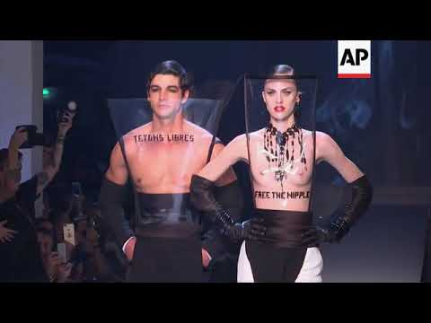 Jean Paul Gaultier's fall-winter 2018-19 couture collection inspired by smoking