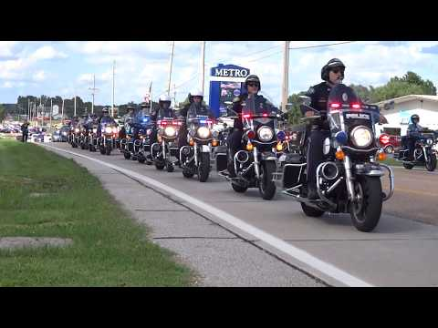 Funeral procession for Greene County Deputy, Aaron Roberts - Sept. 13, 2018