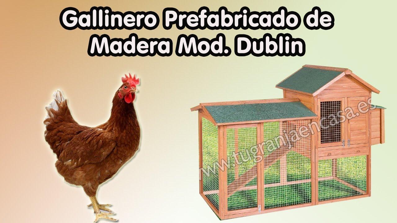Gallinero prefabricado de madera dublin tugranjaencasa - Prefabricados de madera ...