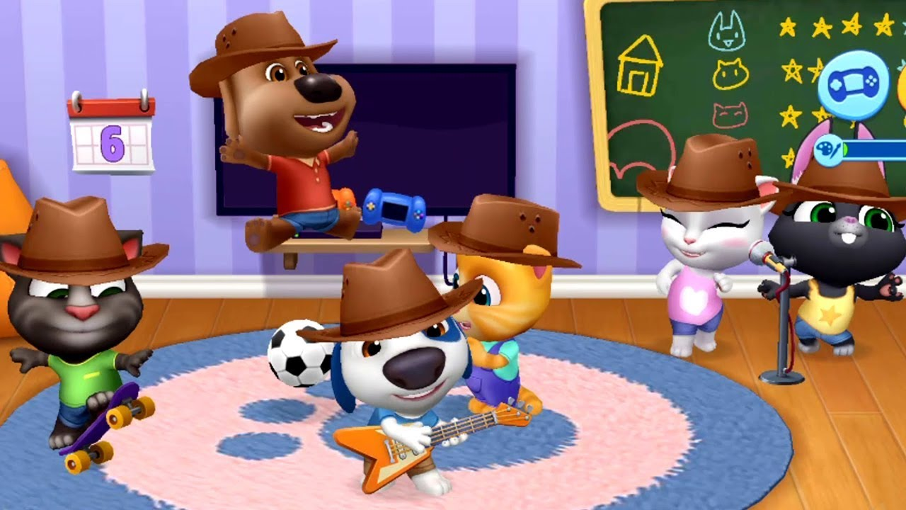 My Talking Tom Friends - Cowboy Hat Outfit Pets & Fun Play Time