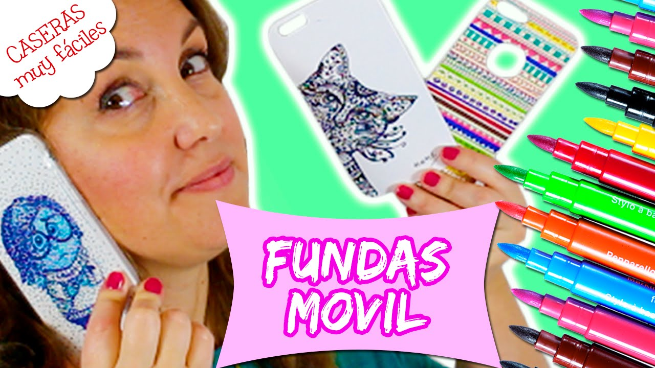 0b31991d11a FUNDAS para MOVIL o CELULAR caseras * FUNDAS artísticas zentangle y  puntillismo - YouTube