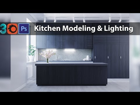 3ds Max Corona Render Kitchen Modeling + Lighting And Render