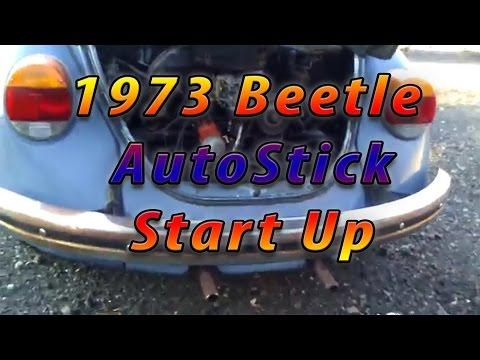 Mint 1973 Volkswagen Beetle Autostick Start Up