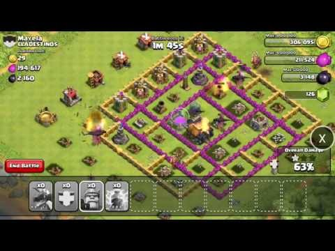 Clash Of Clans War Simulation Attack