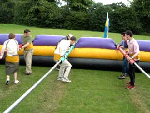 inflatable human table football with tsc events youtube. Black Bedroom Furniture Sets. Home Design Ideas