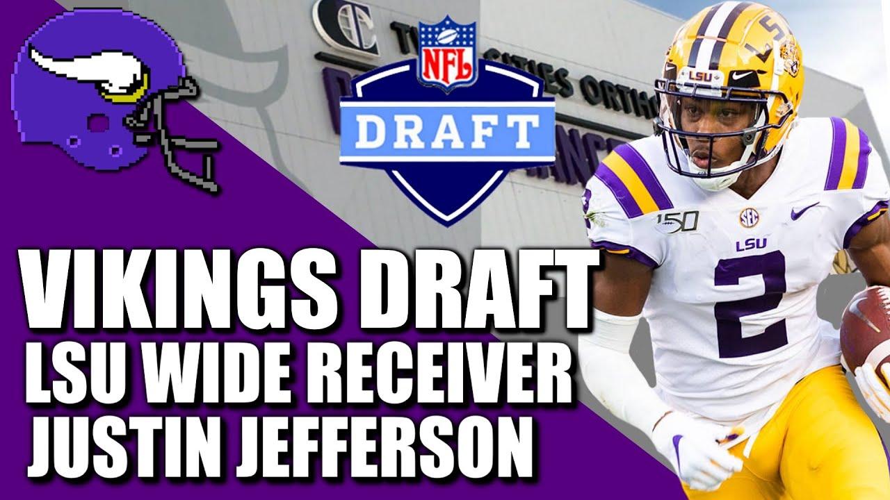 Vikings take LSU WR Justin Jefferson in first round