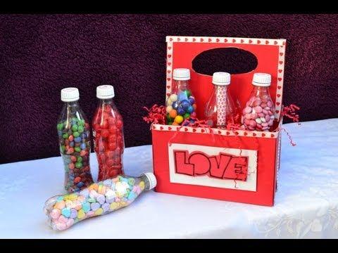Botellas con dulces, el regalo perfecto para tu novio/a - YouTube