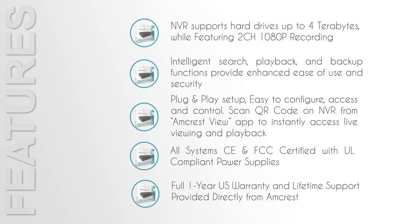 Amcrest NV1104 1080p NVR Network Video Recorder 1 0