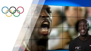 Atlanta 1996 200m final commentated by Michael Johnson | Take the Mic