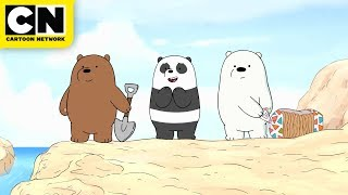 We Bare Bears | Baby Bears Build a Sandcastle | Cartoon Network