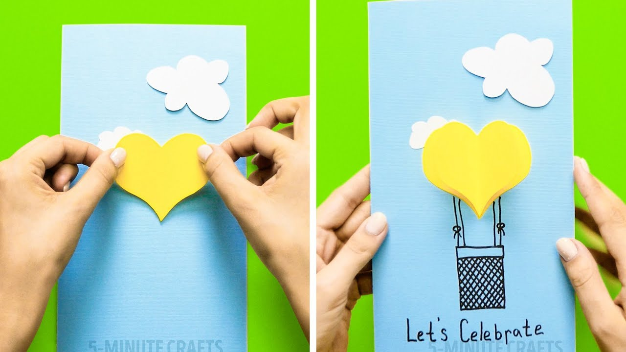 44 Cute Cards You Can Make Yourself Youtube