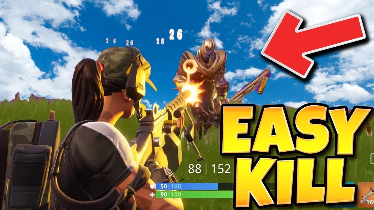 Easiest Way To 1v1 Thanos Fortnite Battle Royale New