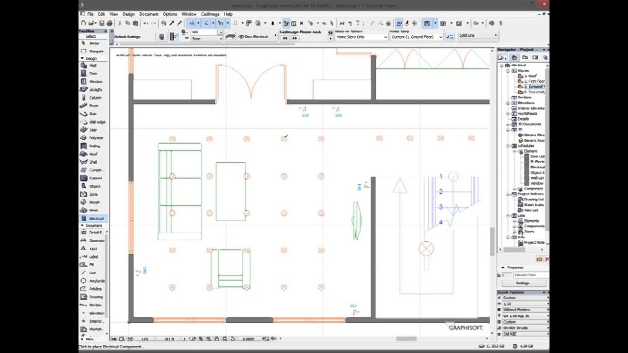 electrical plan in building electrical plan in archicad