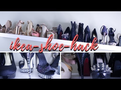 👠ROOM UPDATE: DIY SHOE STORAGE| IKEA HAUL- LACK SHELF hack!