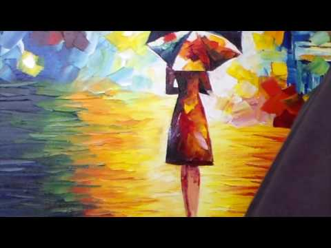 Artist Leonid Afremov Making A Recreation Of Rain Princess