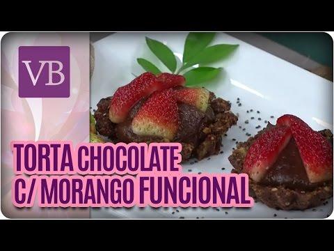 Tortinha funcional de brigadeiro quente com morango - Você Bonita (16/06/16)