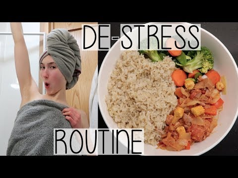 MY DE-STRESS EVENING ROUTINE | COOKING, SELF-CARE & FINAL YEAR EXAMS CHAT