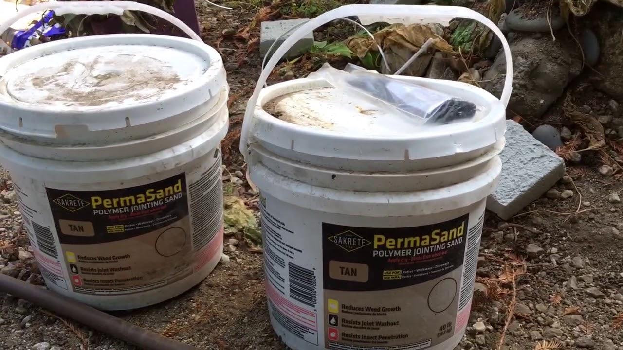 Using Sakrete Permasand- Polymer Jointing Sand. To Set