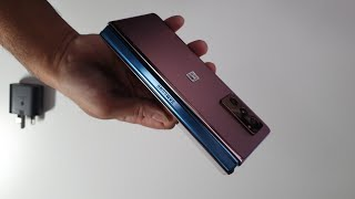 Samsung Galaxy Z Fold2 Unboxing - Bronze with Customised Blue Hinge (UK)