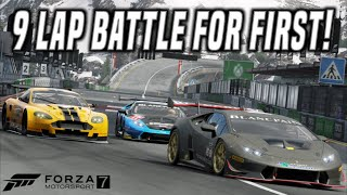 CRAZY 3 Car Battle For First Over 9 Laps!