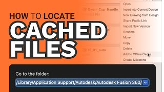 Fusion 360 FAQs: Where are my Fusion 360 files stored?