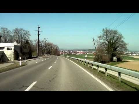 Driving from Oerlikon to Buchs ZH / Canton Zürich/ Switzerland/ 03.2014 / FullHD